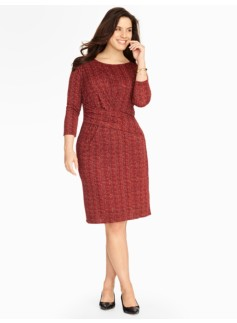 City Jersey Tweed Print Dress