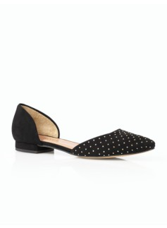 Edison D'Orsay Studded Suede Flats