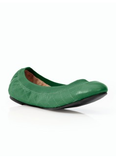 Rory Soft Quilted Leather Elastic Ballet Flats