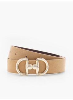 Novelty-Buckle Reversible Belt
