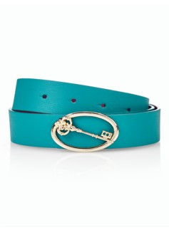 Womans Novelty-Buckle Reversible Belt