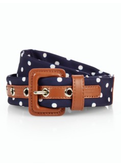Womans Polka-Dot Necktie Belt