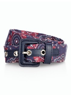 Womans Printed Fabric Belt