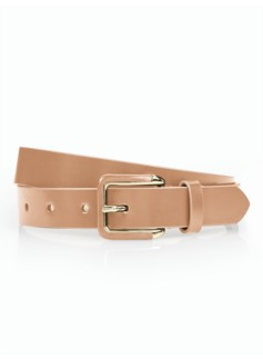 Womans Polished Leather Belt