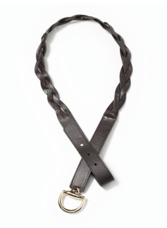 Womans Horsebit-Buckle Braided Belt