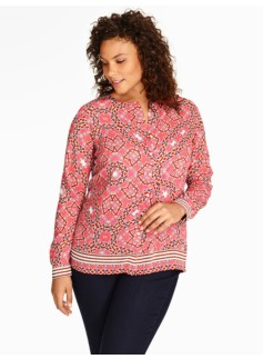 Persian-Print Blouse
