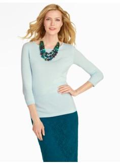 Cashmere Back-Button Sweater