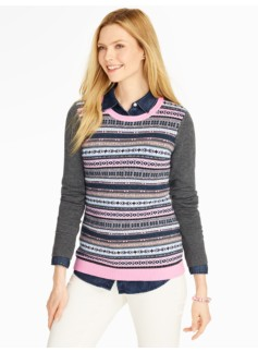 Fair Isle Stripe Sweater