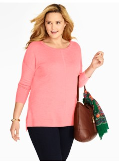 High-Low Hem Merino Wool Sweater