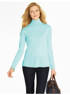 Drop-Shoulder Merino Wool Turtleneck