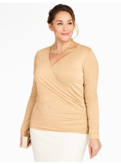 Sparkle Surplice-Wrap Top