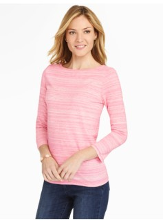 Bateau Neck Tee - Heather