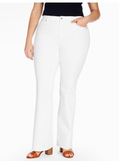 The Flawless Five-Pocket Flare-Leg Jean - White