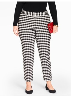 Womans Buffalo Check Tailored Ankle Pants