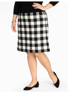 Bold Buffalo Plaid A-Line Skirt