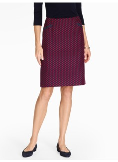 Polka-Dot A-Line Skirt