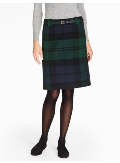 Blackwatch Plaid A-Line Skirt