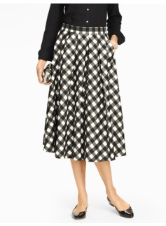 Buffalo Check Midi Full Skirt