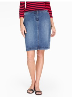 Denim A-line Skirt - Mainsail Wash