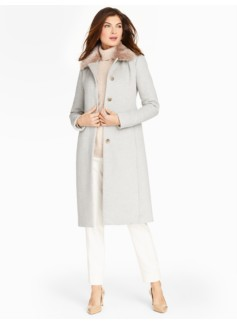 Faux Fur-Trimmed Gramercy Long Coat