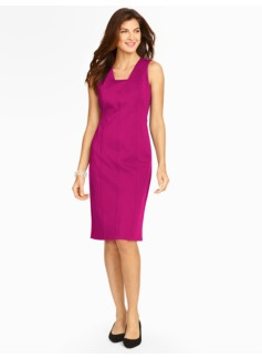 Seamed Ponte Sheath Dress