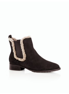 Tish Chelsea Suede Short Boots