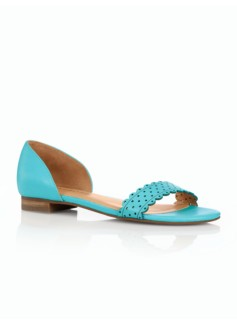 Luciana Perforated Scalloped Sandals