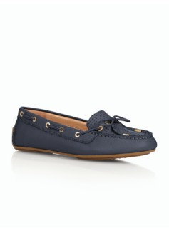 Easton Driving Moccasins - Perforated Pebble Leather