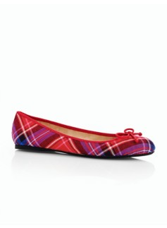 Jilly Twilight Plaid Ballet Flats
