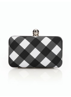 Buffalo Plaid Minaudiere Clutch