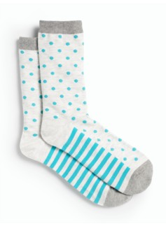 Stripes & Dots Trouser Socks