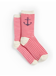 Nautical Anchor Trouser Socks