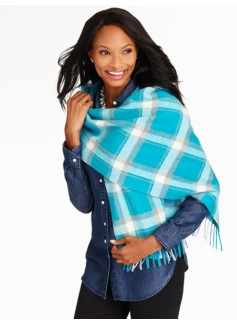 Stormy Plaid Waterweave Cashmere Wrap
