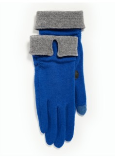 Notched Rollover Cuff Touch Gloves