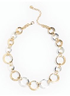 Silver & Gold Hoop Necklace
