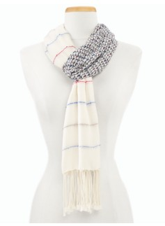 Sailboat & Stripes Scarf