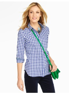Brushed Twill Gingham Checks Shirt