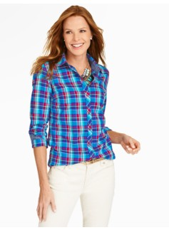 Brushed Twill Candle Plaid Shirt