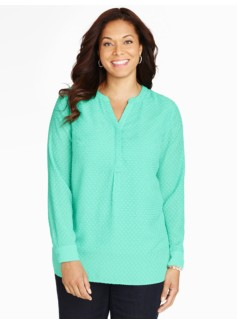 Clipped Dot Long Sleeve Popover