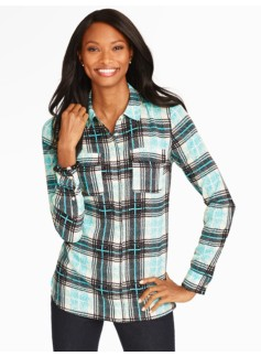 Windsor Plaid Camp Shirt