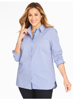 The Long Shirt - Ouzo Stripe