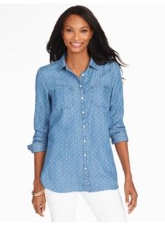Hearts Long Denim Shirt