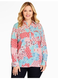 Long Print Popover-Geo Patchwork