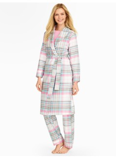 Winter Plaid Flannel Robe
