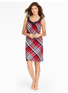Cabin Plaid Flannel Nightgown