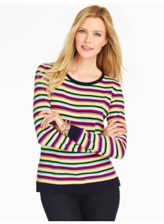 Festive Mixed-Stripes Sweater