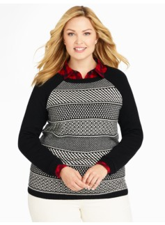 Stripe Foulard Sweater