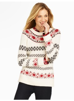 Stripe & Diamond Fair Isle Sweater