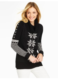 Mistletoe Cowlneck Sweater