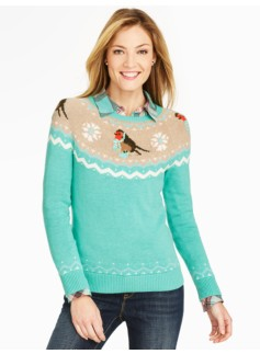 Snow Bird Fair Isle Sweater